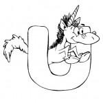 zvirata omalovanky abeceda omalovanky  : alphabet unicorn 150x150 Zvířecí abeceda (anglická)