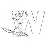 zvirata omalovanky abeceda omalovanky  : alphabet wolf 150x150 Zvířecí abeceda (anglická)