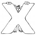 zvirata omalovanky abeceda omalovanky  : alphabet x 150x150 Zvířecí abeceda (anglická)