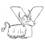 zvirata omalovanky abeceda omalovanky  : alphabet yak 150x150 Zvířecí abeceda (anglická)