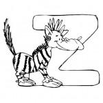 zvirata omalovanky abeceda omalovanky  : alphabet zebra 150x150 Zvířecí abeceda (anglická)