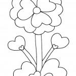 valentyn  : valentyn kvetina 150x150 Valentýnské omalovánky