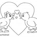 valentyn  : valentyn ptacci 150x150 Valentýnské omalovánky