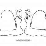 valentyn  : valentyn sneci 150x150 Valentýnské omalovánky