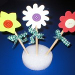 knoflíkové květiny