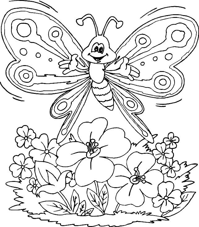 Jarní květinové tvoření - Předškoláci - omalovánky ...