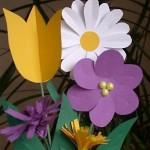 rostliny kvetiny kvetinky jarni tvoreni jarni omalovanky  : jarni papirove kvetiny 150x150 Jarní květinové tvoření