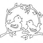 jarni vystrihovanky ptacci