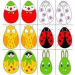 velikonocni omalovanky velikonoce vytvarna vychova pozornost hry pamet 4 roky  : velikonocni vajickove pexeso 150x150 Velikonoční vajíčkové pexeso