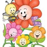 rostliny kvetiny kvetinky jarni tvoreni jarni omalovanky  : vesele kvetiny 150x150 Jarní květinové tvoření