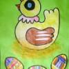 Slepička s vajíčky