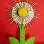 valentyn vytvarna vychova kvetiny  : kyticka z paratek 150x150 Kytka z párátek
