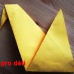 origami slepicka 09