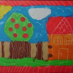 letni vyrobky leto  : obrazky z modelovaci hmoty jablon 150x150 Obrázky z barevné modelovací hmoty