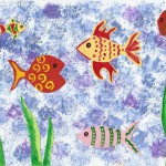 zvirata letni vyrobky leto  : rybicky lepene 150x150 Rybičky