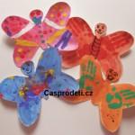 zvirata papirove vytvory letni vyrobky leto  : motylci prstovebarvyfin 150x150 Motýlci   prstovými barvami