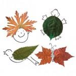 zvirata podzimni vyrobky podzim  : dokreslovani 150x150 Podzimní tvoření   koláž z listí