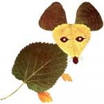 zvirata podzimni vyrobky podzim  : mys 150x150 Podzimní tvoření   koláž z listí
