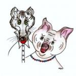 zvirata lesni a polni zvirata domaci  : prasatko a vlk 150x150 Prasátko a vlk