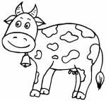 zvirata omalovanky  : krava 150x143 Zvířata na farmě