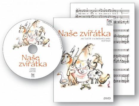 """pisnicky hudebni vychova cd dvd pisnicky  : nase zviratka 468x356 Novinka: CD+DVD+noty """"Naše zvířátka"""""""
