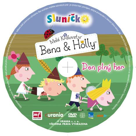 slunicko malé království bena a holly - den plný her dvd potisk sluníčko 062012
