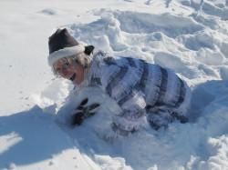 Rampouchový mužík na zimním rodinném pobytu CK ŠPUNTÍK
