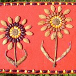 podzimni vyrobky podzim letni vyrobky leto  : obrazek z prirodnin 150x150 150x150 Těstovinový obrázek