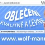 zpravy  : outlet 150x150 WOLF   dětské oblečení a textil
