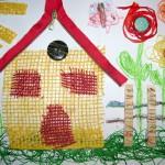 letni vyrobky leto  : textilni kolaz 150x1501 150x150 Využití CD v práci s dětmi