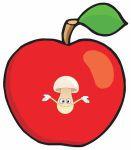 zvirata hmyz ovoce zelenina  : jablko a cervicek 131x150 Malý červíček