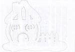vytvarna vychova vanocni inspirace tesime se na vanoce zima  : 3 150x105 Vystřihovánky   vánoční vesnička